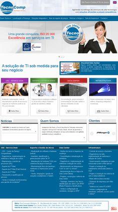 Desenvolvimento do site da Tecnocomp.