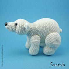Crochet Polar Bear by FerFox Disign SOLD #amigurumi #polar_bear #crochet_toy