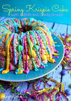 SUPER EASY Rice Krispie Cake tutorial by Delightful E. Made