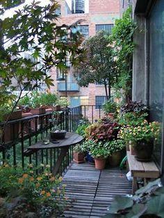10 ideas para decorar el balcón ¡y llenarlo de vida en primavera! | Decoración Small Balcony Design, Small Balcony Garden, Balcony Flowers, Balcony Plants, Rooftop Garden, Balcony Ideas, Balcony Gardening, Small Balconies, Gardening Tools