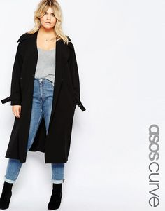 Image 1 of ASOS CURVE Duster Coat