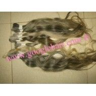 Natural Hair Extensions - Grey Original Hair - Googlehair