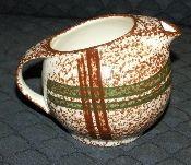 Blue Ridge Southern Pottery Rustic Plaid Creamer