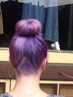 Lavender hair. Under cut. Triangles. #hairbyliv #iheatlox