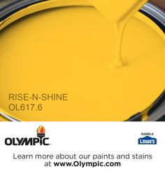RISE-N-SHINE OL617.6 is a part of the yellows collection by Olympic® Paint.