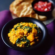North Indian chickpea, lentil and squash curry recipe