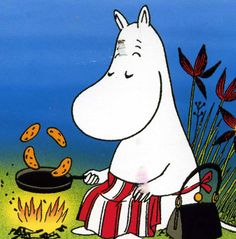 "The other thing I love about Finland is of course the Moomins! My favorite is the mother who is always so kind and smart.. someone I would like to become when I grow up. ""Ha Ha"" =)"