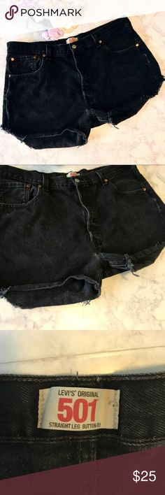Levi's 501 High waisted Shorts 501 high waisted shorts in perfect condition! Homemade and the perfect length. Super cute and perfect for any outfit! 💕B4-186 Measurements: L-13.5in. W-20.5in. Ins-3in. Levi's Shorts Jean Shorts
