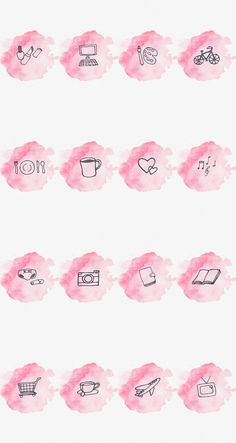 Make your Instagram profile stand out with these fun watercolor highlight covers! This is an instant download for 16 pink watercolor Instagram highlight cover images. These will give you a pretty and organized profile. Perfect for Lifestyle bloggers and Bookstagrammers. They are