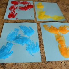 how we learn kids handprint art