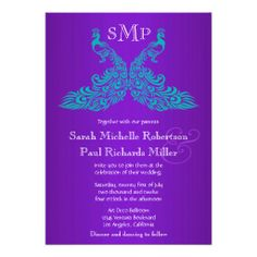 Teal and Purple Peacock Wedding Invitations Yes I can say you are on right site we just collected best shopping store that haveThis Deals          Teal and Purple Peacock Wedding Invitations today easy to Shops  Purchase Online - transferred directly secure and trusted checkout...