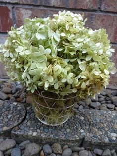 Hydrangea Floral Arrangement   Shabby Chic by donnahubbard on Etsy