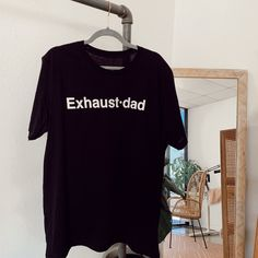 """Exhaust•dad©""  100% Cotton Tee Exhausted, Cotton Tee, Gifts For Dad, Heather Grey, Dads, Culture, Mom, Clothing, Mens Tops"