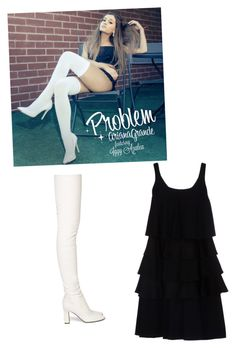 """ariana grande problem"" by hamsterlover447 ❤ liked on Polyvore featuring Tamara Mellon and Emporio Armani"