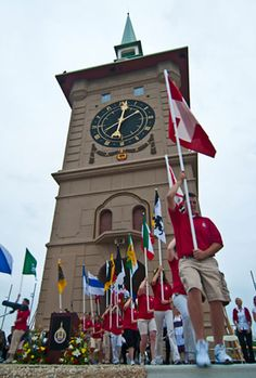 The #Muensterberg Plaza and Clock Tower, #Berne, #Indiana