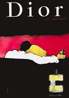Dior Eau Sauvage Lounge (c. 1980) by Rene Gruau