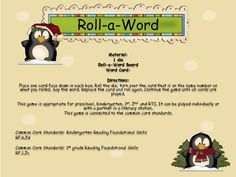 Your students will learn cvc words as they play this fun dice game.This game is appropriate for preschool, kindergarten, 1st, 2nd and RTI. It can be played individually or with a partner in a literacy station. This game is connected to the common core standards. Literacy Stations, Literacy Centers, Learning Sight Words, Word Board, Dice Games, Cvc Words, Kindergarten Literacy, Common Core Standards, Word Families