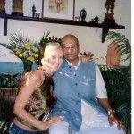 Dana Rae Pare with Guruji at Tim Miller's original studio