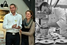 Gastgeber auf Gut Hermannsberg: Gastgeber Désirée und Christian Patsch mit Koch Max Bell
