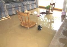 This is a lot of water damage! How is there this much water? I am guessing a main pipeline broke or the drains are clogged.
