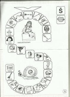 Logopedie - Album uživatelky sisstin | Modrykonik.cz Toddler Crafts, Speech Therapy, Activities For Kids, Alphabet, Language, Album, Reading, Infant Activities, Pranks