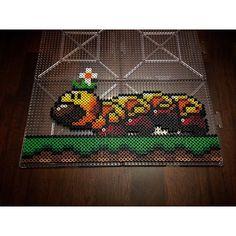 Wiggler Mario perler beads by honey.beads