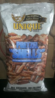"""My BELOVED BUY for this week - PRETZEL """"SHELLS""""! This is brilliant. It is like scooping out the middle of your bread! All the crunch without the filling! You can pick these up at Kroger over in the healthier chips by the organic section. #Healthyways=Happydays I GO SHOPPING SO YOU DON'T HAVE TO!"""