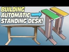How To BUILD a Standing Desk | Building Convertible Electric Workstation For Easy DIY Stand Up Desks - YouTube