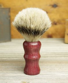 Purpleheart Capital style shaving brush with Silvertip Badger by Bare Knuckle Barbery