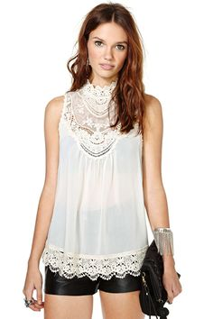 Lyric Crochet Top   Shop What's New at Nasty Gal