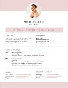 White And Pastel Teal Minimalist Resume  Design