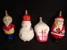Lot-of-Vintage-Christmas-Ornaments-Santa-figural-milk-glass-50s-60s-70s-80s