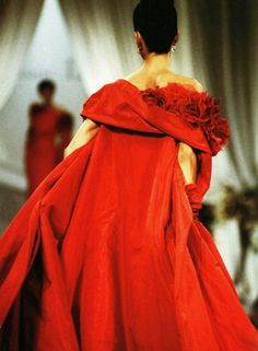 Christian Dior haute couture f/w 1989 by Gianfranco Ferré, photographed by Michael O'Connor