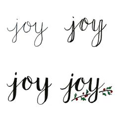 Basic Hand Lettering: JOY - One Artsy Mama