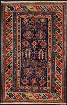 "Caucasian Shirvan Rug: Shirvan Rug Size: 2' 8"" x 4' 3"""
