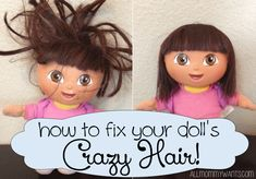 How to Fix Your Doll's Crazy Hair! A Step By Step Tutorial. I need to do this to all of her dolls! Idk how she gets the hair so nappy but she does it like a pro!..lol