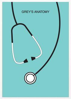 Grey's Anatomy Minimalist poster serie tv show
