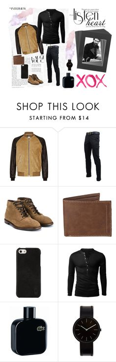 """""""1086"""" by sheiivaz-00 ❤ liked on Polyvore featuring Sandro, Dolce&Gabbana, Levi's, Polo Ralph Lauren, Lacoste, Uniform Wares, GALA, men's fashion and menswear"""