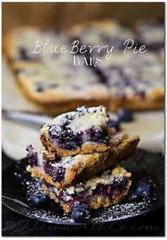 Blueberry Pie Bars {