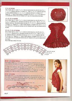 TEJIDOS CROCHET: saco circular crochet rojo
