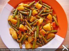 Grüne Bohnen mit Kartoffeln, ein raffiniertes Rezept aus der Kategorie Kochen. Bewertungen: 4. Durchschnitt: Ø 3,8.