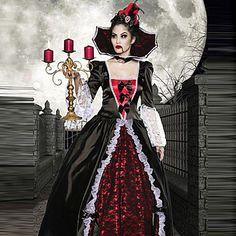 Disfraces de Halloween: Disfraz Vampiresa Elite de Versalles