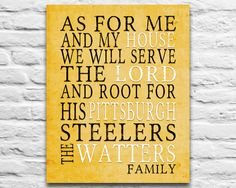 PERSONALIZED Printable name Pittsburgh Steelers Nfl football team family sports wall decor poster art print gift custom kids room DIY, 8x10