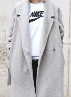 nike and trench coat