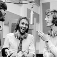 Barry, Robin & Mo enjoying a chuckle during recording of harmonies.