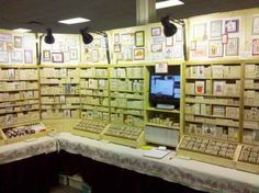 Our Show Booth - To see more ideas and order Stamps by Judith & Heather go to www.stampsbyjudith.com