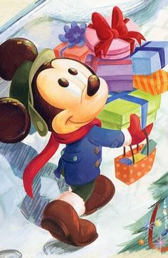 Find images and videos about disney and mickey mouse on We Heart It - the app to get lost in what you love. Walt Disney, Disney Love, Disney Magic, Mickey Mouse Christmas, Mickey Mouse And Friends, Mickey Minnie Mouse, Merry Christmas, Xmas, Christmas Gifts
