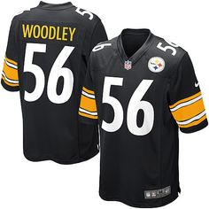 Nike Limited Mens Pittsburgh Steelers #56 LaMarr Woodley Team Color Black NFL Jersey$89.99