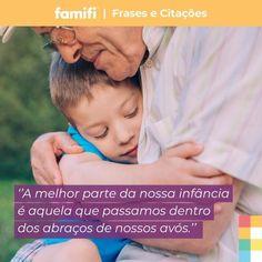 Qual a lembrança mais doce de infância que tem com seus avós?  #Avós #vovô #vovó #sabedoria #amomeusavós #família #amor