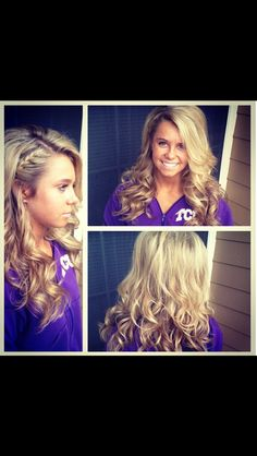 Homecoming hair. Maybe a little different but love the braid